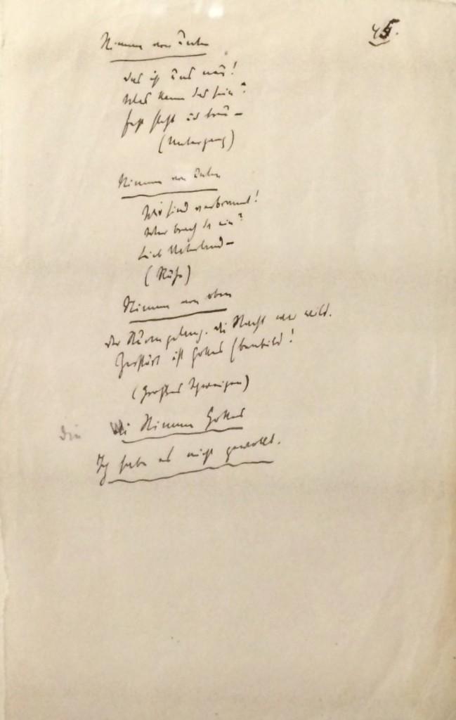 """Manuskriptfassung von Karl Kraus, """"Die letzten Tage der Menschheit"""""""